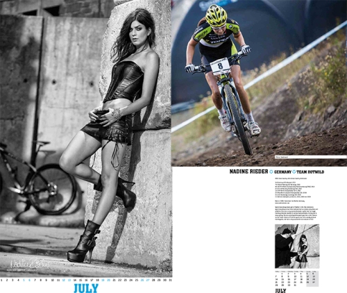 Nadine Rieder Foto gracias a Cyclespassion http://fairwheelbikes.com/c/2014-cyclepassion-calendar/07-july/